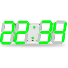 Green Remote control led digital clock display fashion clothing store cafe sitting room use