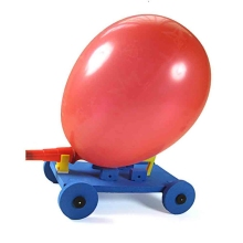 Plastic Portable Balloon Race Car Air Power Assemble Model Creative Entertainment Toy Gift for Student Kids Hands-on Skill