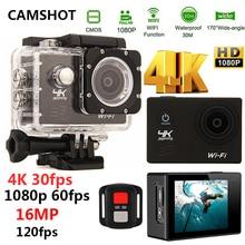 CAMSHOT Sport Action Camera 4K WIFI 2.0LCD 1080P 60fps Outdoor underwater waterproof diving Surfing cycling helmet Cam Cameras