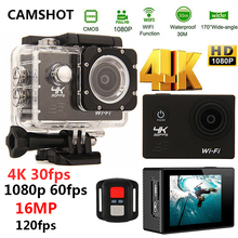 CAMSHOT Sport Action Camera 4K WIFI 2.0LCD 1080P 60fps Outdoor underwater waterproof diving Surfing cycling helmet Cam Cameras