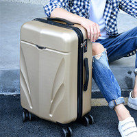 Scratch durable luggage,22/24Retro universal wheel aluminum suitcase,Leather Trunk,High grade trolley case, 20Boarding box