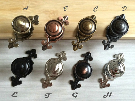 Dresser Knob Pulls Handles Black Antique Bronze Silver Nickel Chrome Steel  Retro Kitchen Cabinet Door Knobs