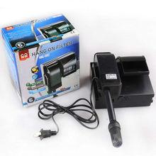 Fish tank aquarium wall-mounted filter pump aeration dual-purpose voltage 220V-240V-50Hz / 60Hz power 4W maxi