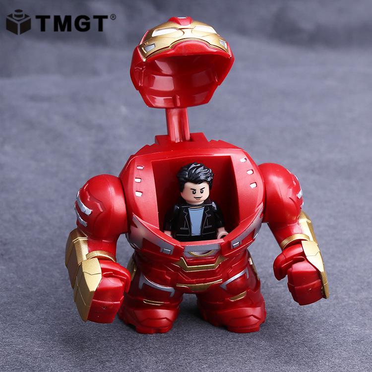 TMGT Single Iron Man Big Size Super Hero Thanos Infinity Gauntlet Goblin King Venom Building Blocks Toys For Children