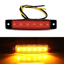 New Taillight Lamp 12V 6 LED Truck Boat BUS Trailer Side Marker Taillight Indicators Light Lamp 2017 high quality 4pcs 6 led car truck trailer side marker indicators lights lamp 12v yellow