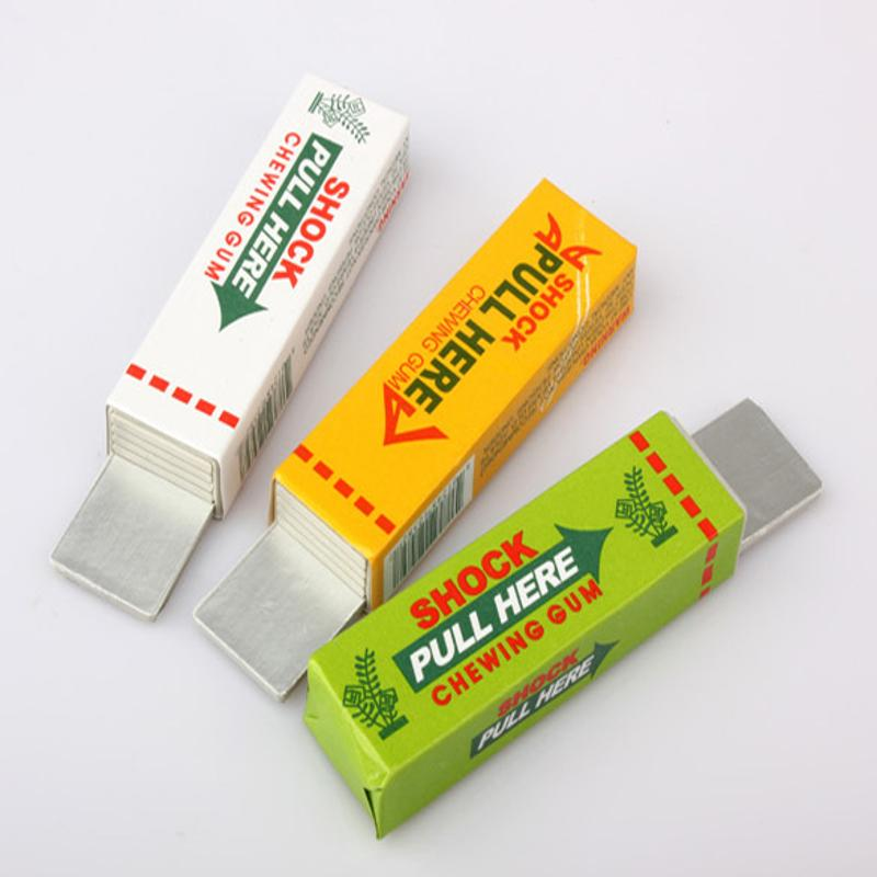1PC Safety Funny Magic Tricks Joke Toys Kids Adult Chewing Gum Pull Head Shocker Electroshock Practical Joke Aniti-stress Toys