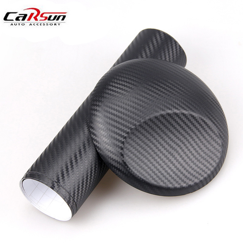 Car Styling 50x100cm 3D Carbon Fiber Vinyl Film Body Modified Stickers DIY Waterproof Color Change Wrapping Paper Black&Silver car styling 3d car sticker auto body tank chain stickers decals vinyl wrap change color film car covers for smart