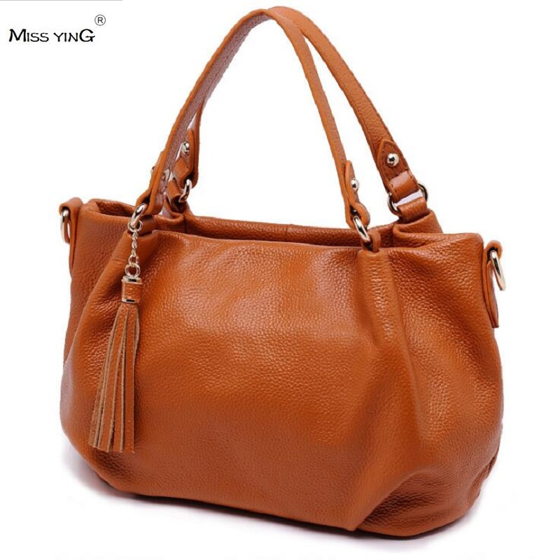 New Arrival Cow Leather Totes Handbags Fashion Shoulder Bag Genuine Leather Cross Body Bags Brand Bucket Women Messenger Bags new arrival fashion women leather tassels handbag cross body single shoulder bucket bag lady girls vintage messenger bags bolsa