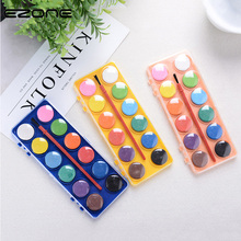 EZONE 12 Cute Candy Water Color Solid Waterolor Paint Bright Color Portable Watercolor Pigment For Painting