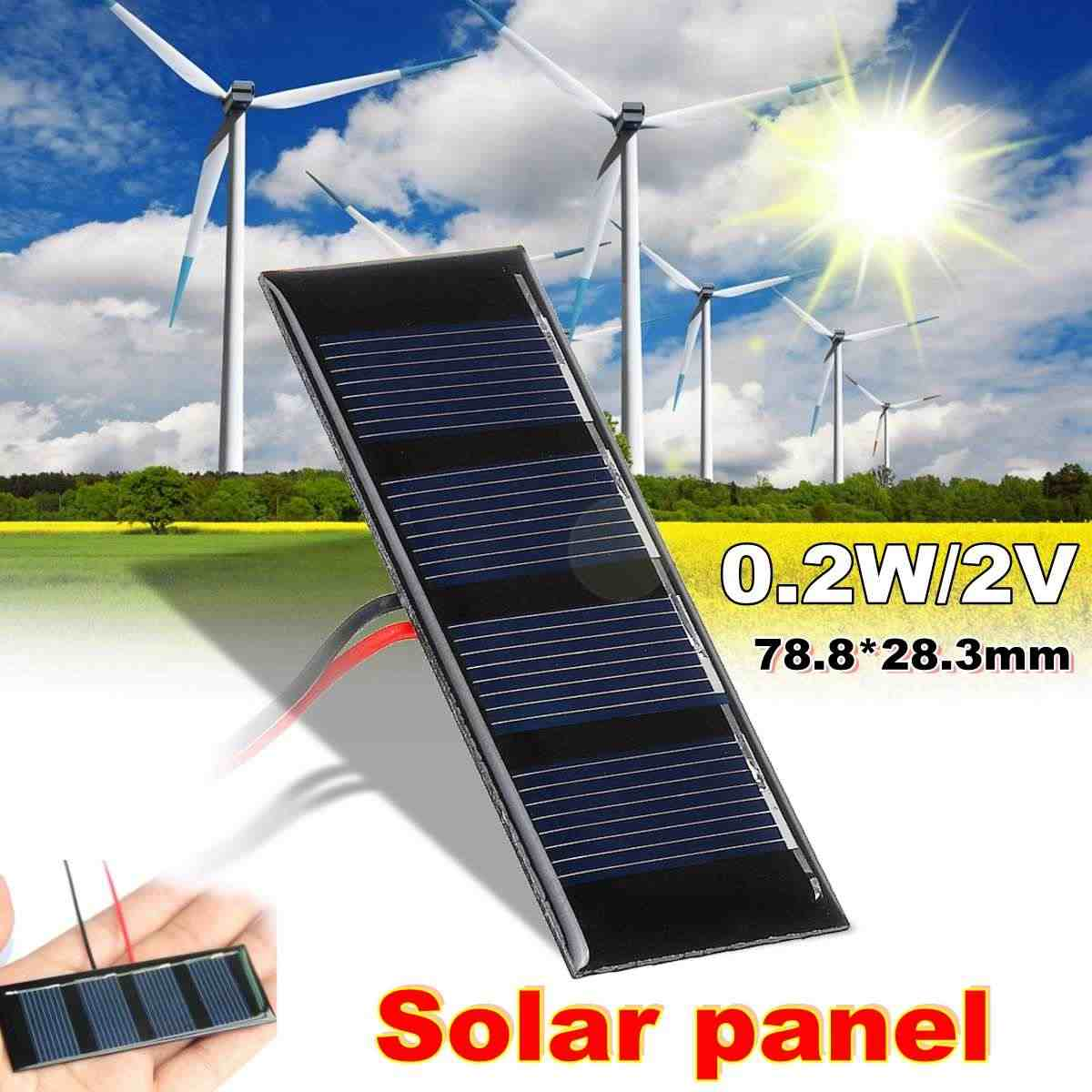 LEORY Solar Panel 2V 0.2W Solar Charger 5V Phone Battery Charger 2V Mini DIY Epoxy Polycrystalline Cells For Cellphone