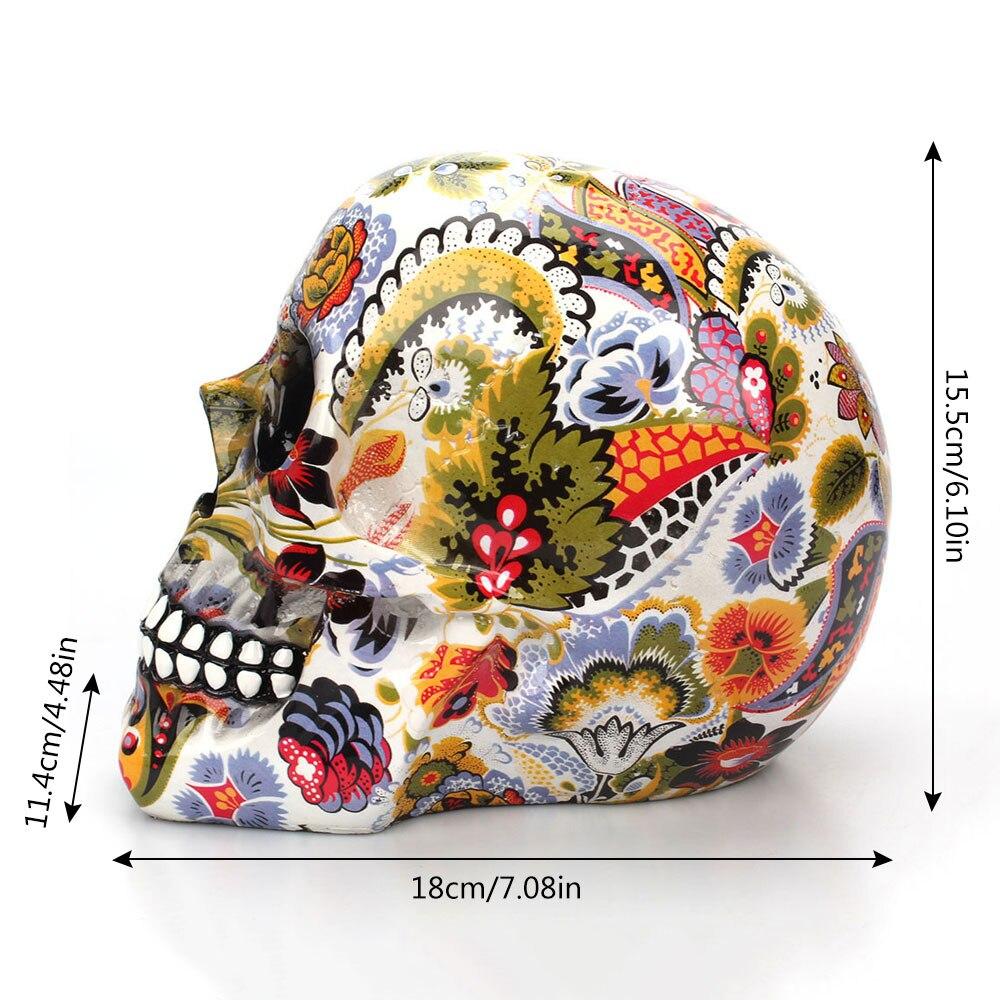 Calavera de resina de esqueleto humano 3