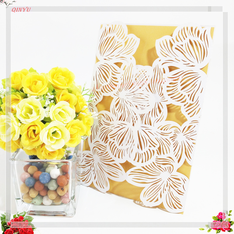 Event & Party Loyal 10/30pcs White Pink Hollow Out Luxury Laser Cut Wedding Invitations Elegant Card Set Baby Shower Party Supplies 6z Sh072 Soft And Antislippery Home & Garden