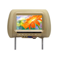 7 Inch Auto Kopfstütze Monitor TFT LED Digital Screen Kissen Monitor MP5 Player & USB und SD Funktionen|monitor tft|tft ledheadrest monitor -