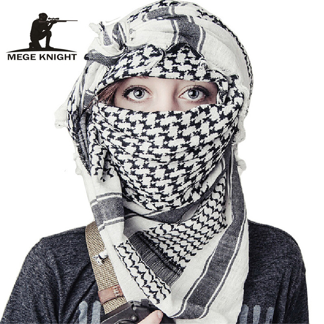 Airsoft Military Shemagh Thicken Muslim Hijab Multifunction Tactical Scarf Shawl Arabic Keffiyeh Scarves Fashion Scarf Women
