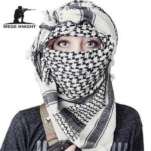 Image 1 - Voile militaire Shemagh, Hijab musulman épais, tactique multifonction, châle, écharpes arabes, Keffiyeh, mode pour femmes