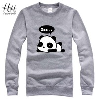 HanHent Cute Panda Funny Cotton Sweatshirts Men Creative Design Hoodies 2017 New Fashion Brand Couples Streetwear