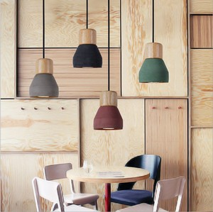 Image 5 - Country Style cement Led Pendant Light 120cm wire E27 Socket Droplight wood indoor Decoration kitchen Hanging Lamp ZDD0023