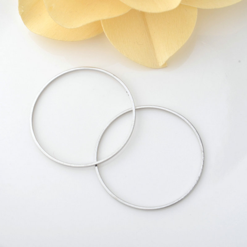 10PCS 30MM Brass Imitation Rhodium Round Closed Rings Diy Jewelry Findings Accessories Wholesale