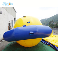 Inflatable Floating Boat Water Game Floating Spinner Water Saturn Disco Boat For Fun