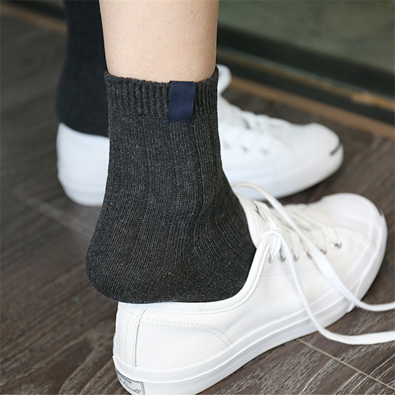 1 pairs four seasons women's socks warm solid color striped hosiery casual female long socks high quality cute funny sock
