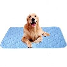 2019 nueva alfombrilla de hielo de verano para perros 100*70 CM, tamaño grande, camas de seda fría para mascotas, sofá acolchado apto para todas las mascotas, cachorros, gatos, alfombra refrescante para verano