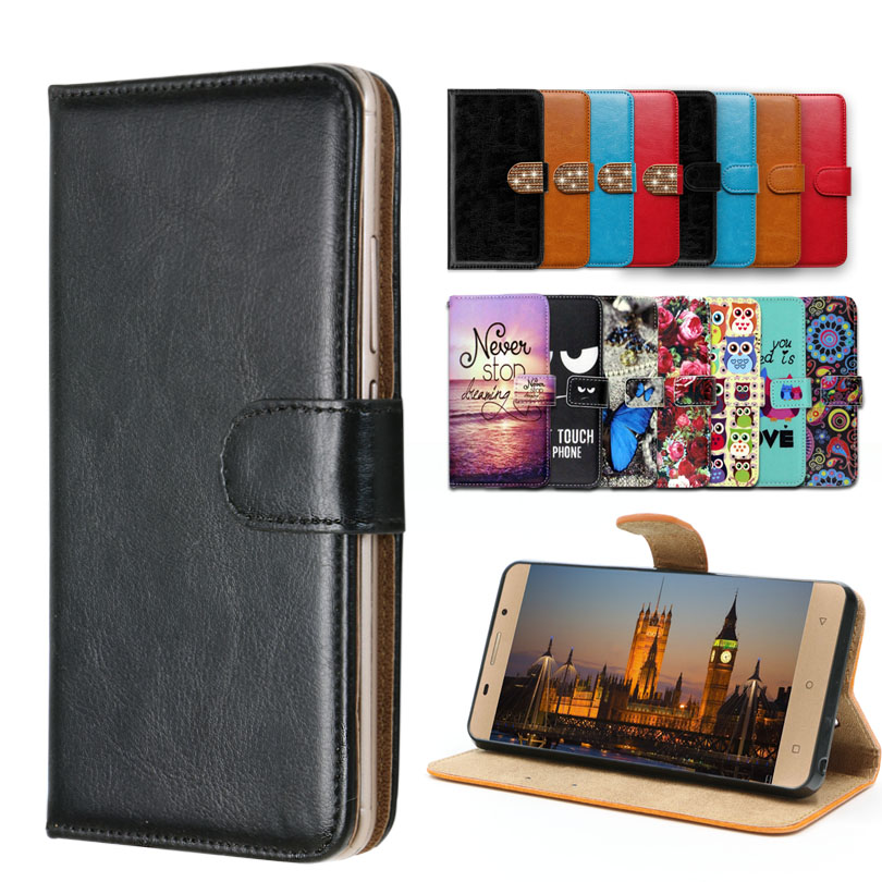 Vintage Flip Case with kickstand Luxury PU Leather case for Senseit <font><b>E510</b></font>,lovely cool Cartoon Wallet Fundas <font><b>Cover</b></font> image