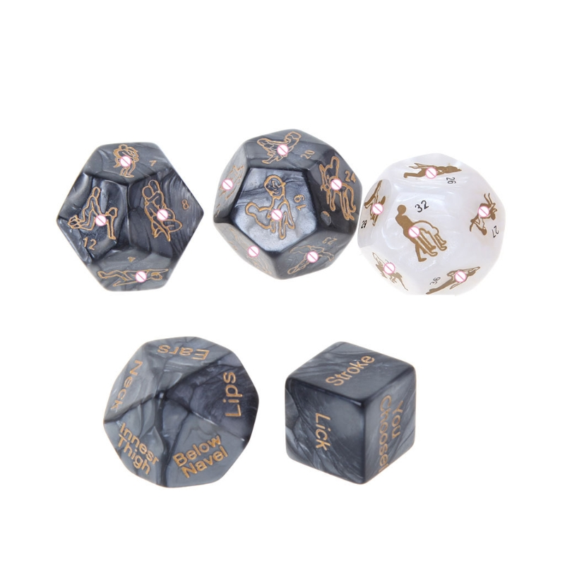 5Pcs/Set Sex Dice Fun Adult Humour Game Erotic Love Sexy Posture Bar Toy Couple Gift