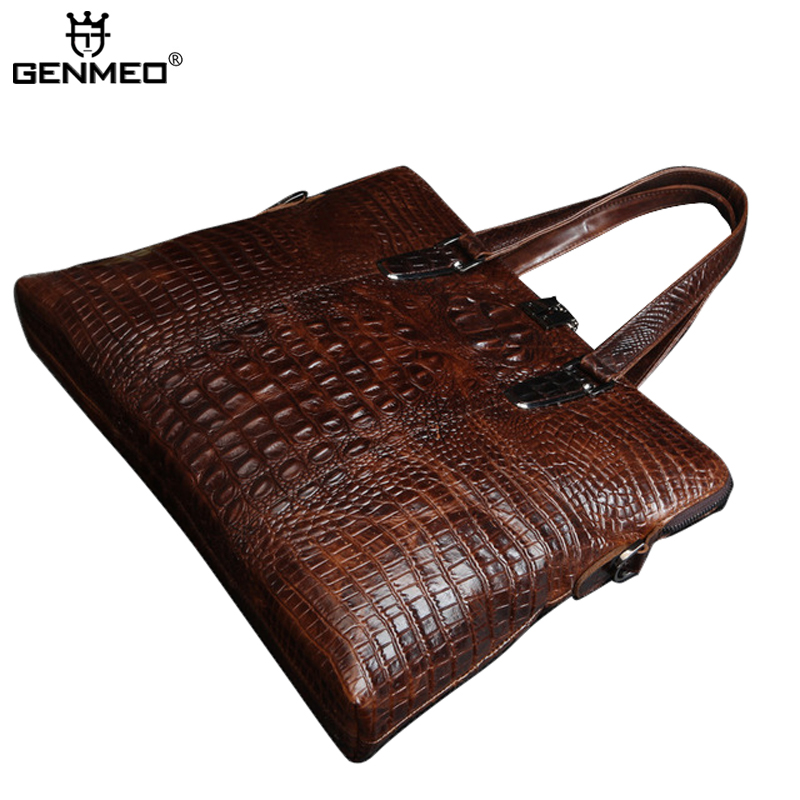 New Arrival Vintage Alligator Genuine Leather Messenger Bag Retro Cow Leather Handbags Cowhide Briefcase Shoulder Bag Bolsa lpsecurity gate door electric magnetic lock drop bolt strike access control system power supply with box cabinet 12v 5a