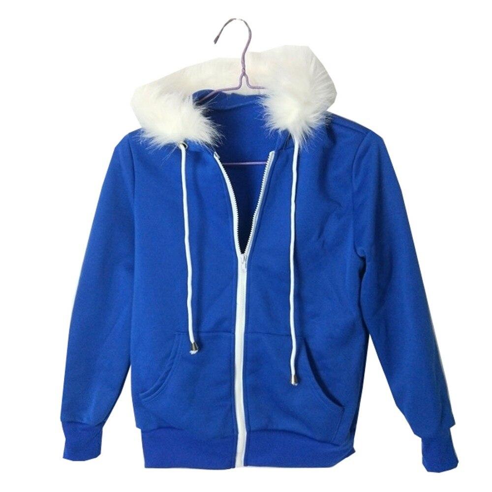2018 undertale sans manteau bleu cosplay veste costume sweatshirt à capuche unisexe sweats homme fermeture éclair à capuche haut sweat hiver veste C