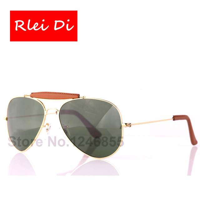 RLEI DI High Quality Men Women Unisex Sunglasses Driving Top grade Glass lens Sun Glasses Alloy PU frame Glasses Eyewear