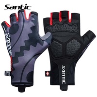 Santic Cycling Gloves Men Half Finger Sport Bicycle Gloves Non slip Padded Road Mountain Bike Gloves Guantes Guanti Ciclismo