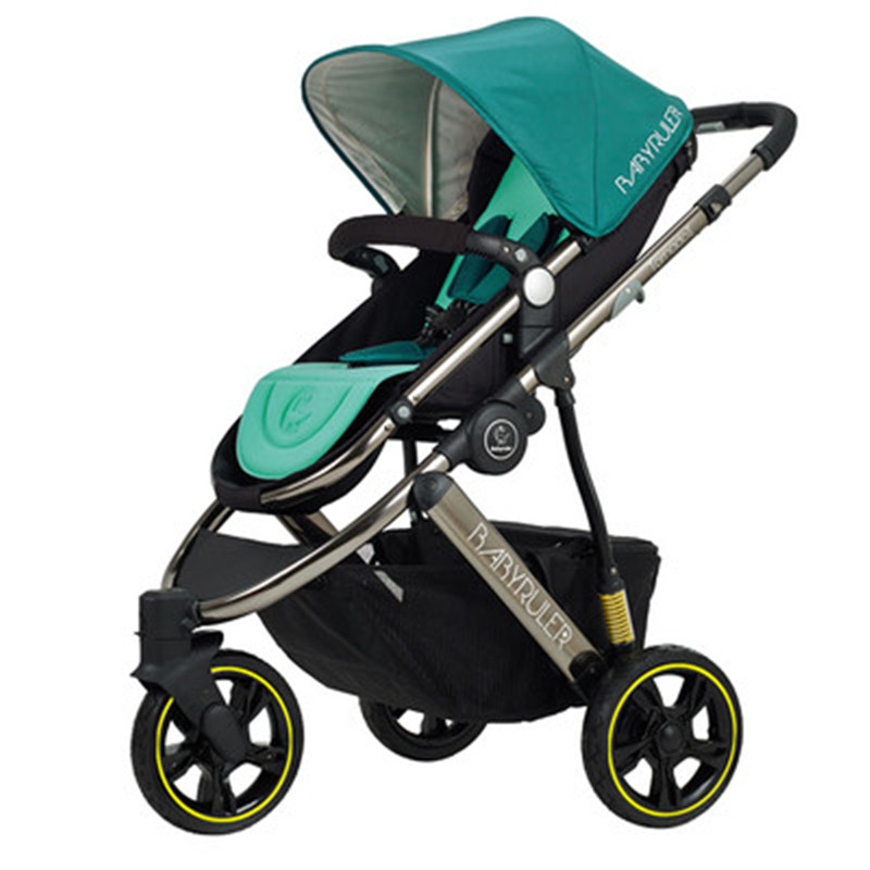 Baby stroller can sit reclining high landscape shock absorber ultra-light folding portable two-way baby umbrella carriages четырёхколёсная коляска mail three le european landscape ultra light strollers summer shock baby stroller wheel baby stroller baby light umbrella might ride reclining cradle folding trolley sky blue