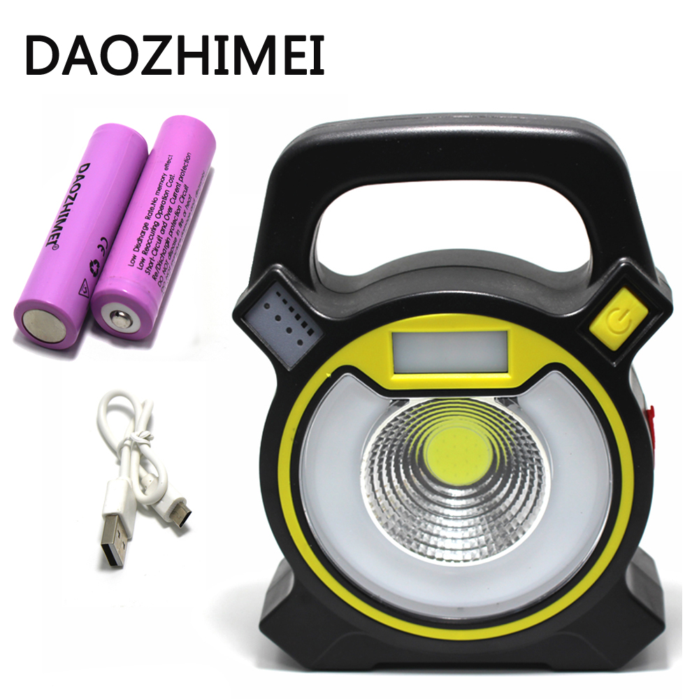 1000 lumens 15W COB portable light 4 mode waterproof flashlight emergency lights USB Charge outdoor camping trekking tent ligh