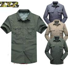 цены Quick Drying Outdoor Men unloading Tactical Shirts Breathable Removable Clothes Military Fishing Shirt Trekking Hiking Clothing
