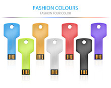 LOGO custom 2017 Fashion usb flash drive 64gb key usb stick metal usb2.0 memory stick for gift with keychain for PC