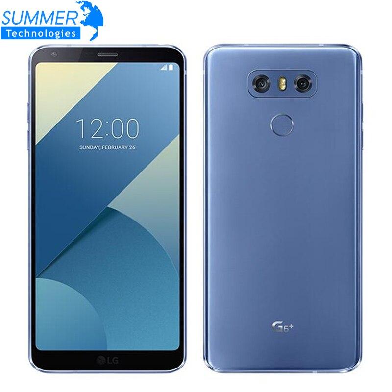 Оригинальный разблокирована LG G6 плюс H870DSU 4 г LTE Android Dual Sim 4 ядра Оперативная память 4 ГБ Встроенная память 128 ГБ 5,7 13MP мобильного телефона