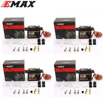 4x EMAX ES3001 มาตรฐาน 43 กรัมเซอร์โวสำหรับเรือเฮลิคอปเตอร์ RC เครื่องบิน (ES08A ES08MA ES08MD ขายส่ง)