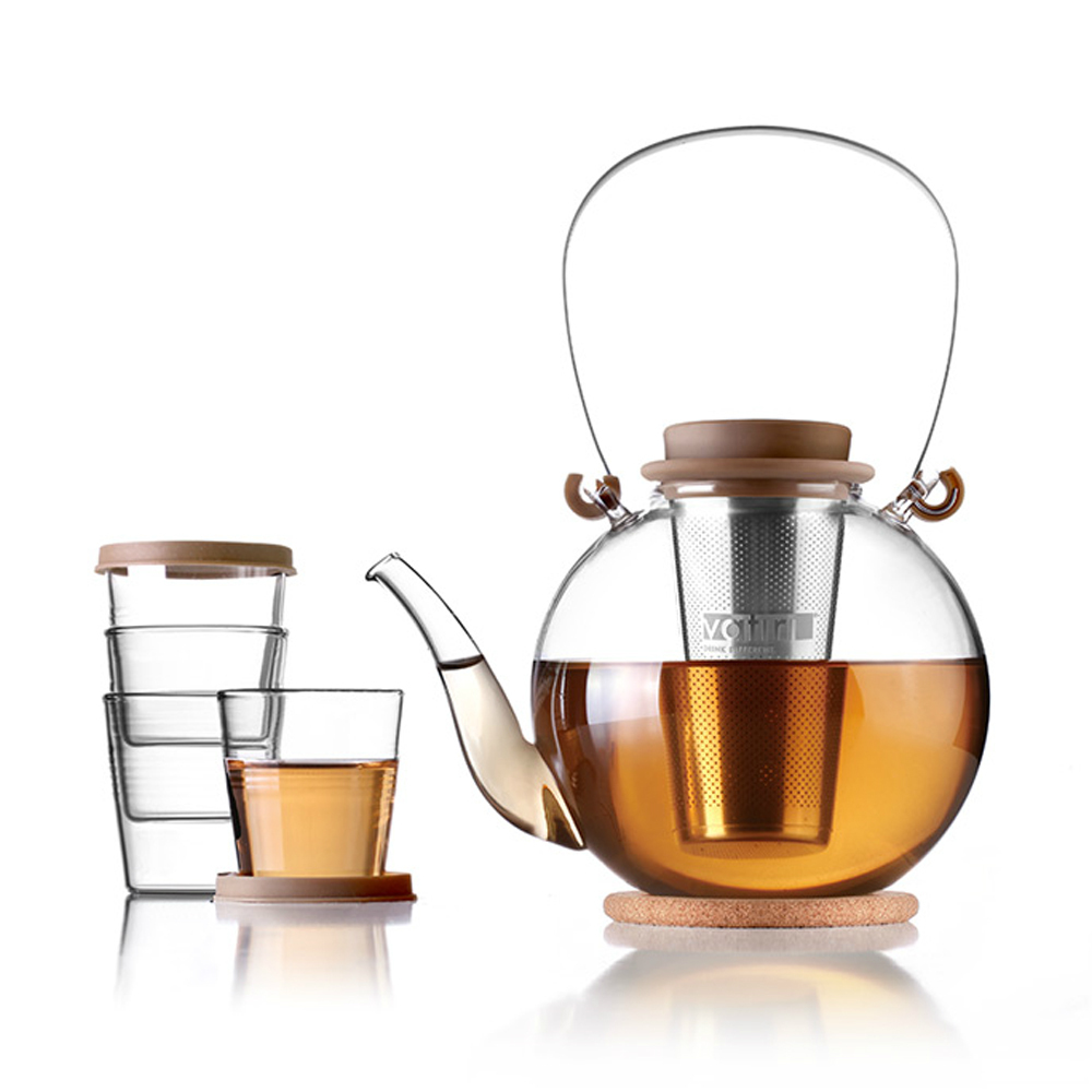 aliexpresscom  buy vatiri non toxic healty modern style ball  - aliexpresscom  buy vatiri non toxic healty modern style ball shaped clearglass teapot set w stainless steel tea infuser coaster free shipping from