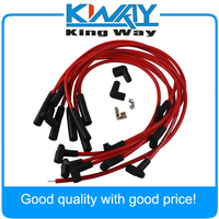 Free Shipping - Red Color JDMSPEED Spark Plug Wires Fits For Chevy 454 HEI STR Over Valve Cover BBC Big Block