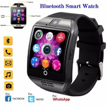 Bluetooth Smart Watch Men Q18 With Touch Screen Big Battery Support TF Sim Card Camera for Android IOS Phone Sport Passometer