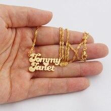 Персонализированные пользовательские таблички Ожерелье Женщины Мужчины ювелирные изделия из нержавеющей стали ювелирные изделия подарок