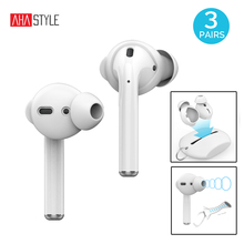 bbef6aceacc 3 Pairs Silicone Earbuds Covers Case for Apple AirPods Eartips Earhook+Storage  Pouch Case for. 2 Colors Available