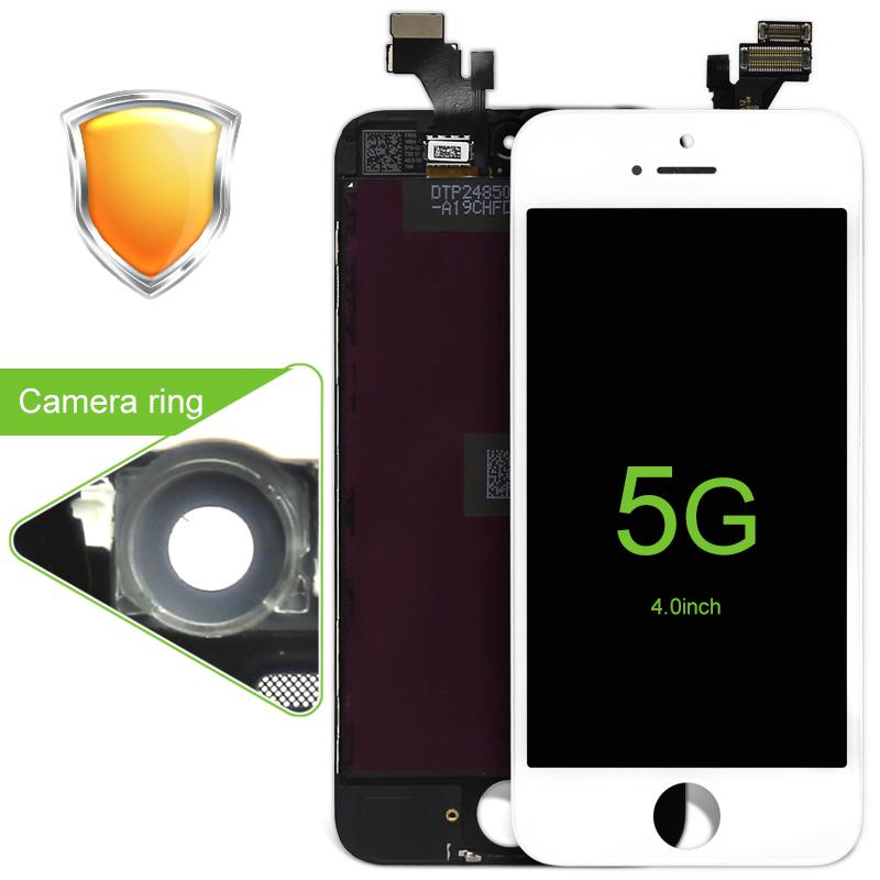 Prix pour 10 PCS Haut Quanlity Pour iPhone 5g Écran lcd Écran Tactile Avec Digitizer Remplacement Assemblée Pièces Blanc/Noir livraison Gratuite