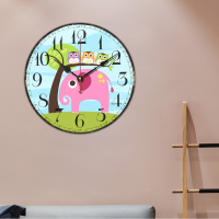 Cartoon Owl Wall Clock Vintage Animal Clocks Watch Living Room Children Love Bedroom Home Decoration