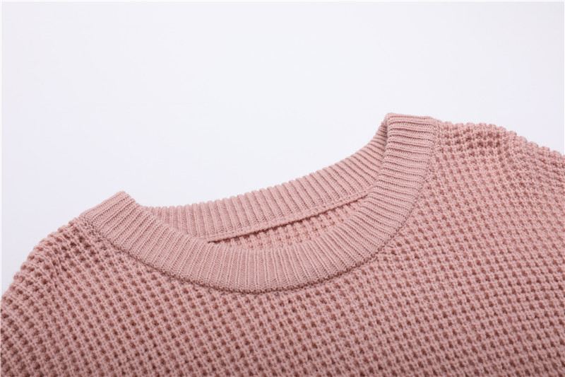 Fall Winter Vintage Mustard Side Slit Crochet Sweater Dress for Women Cute Ladies Retro Cosy Loose Split Pullover One Size 38