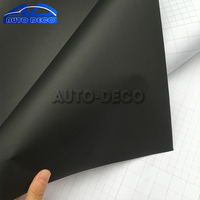 Matte Black Vinyl Car Wrap Car Motorcycle Scooter DIY Styling Adhesive Film Sheet With Air Bubble