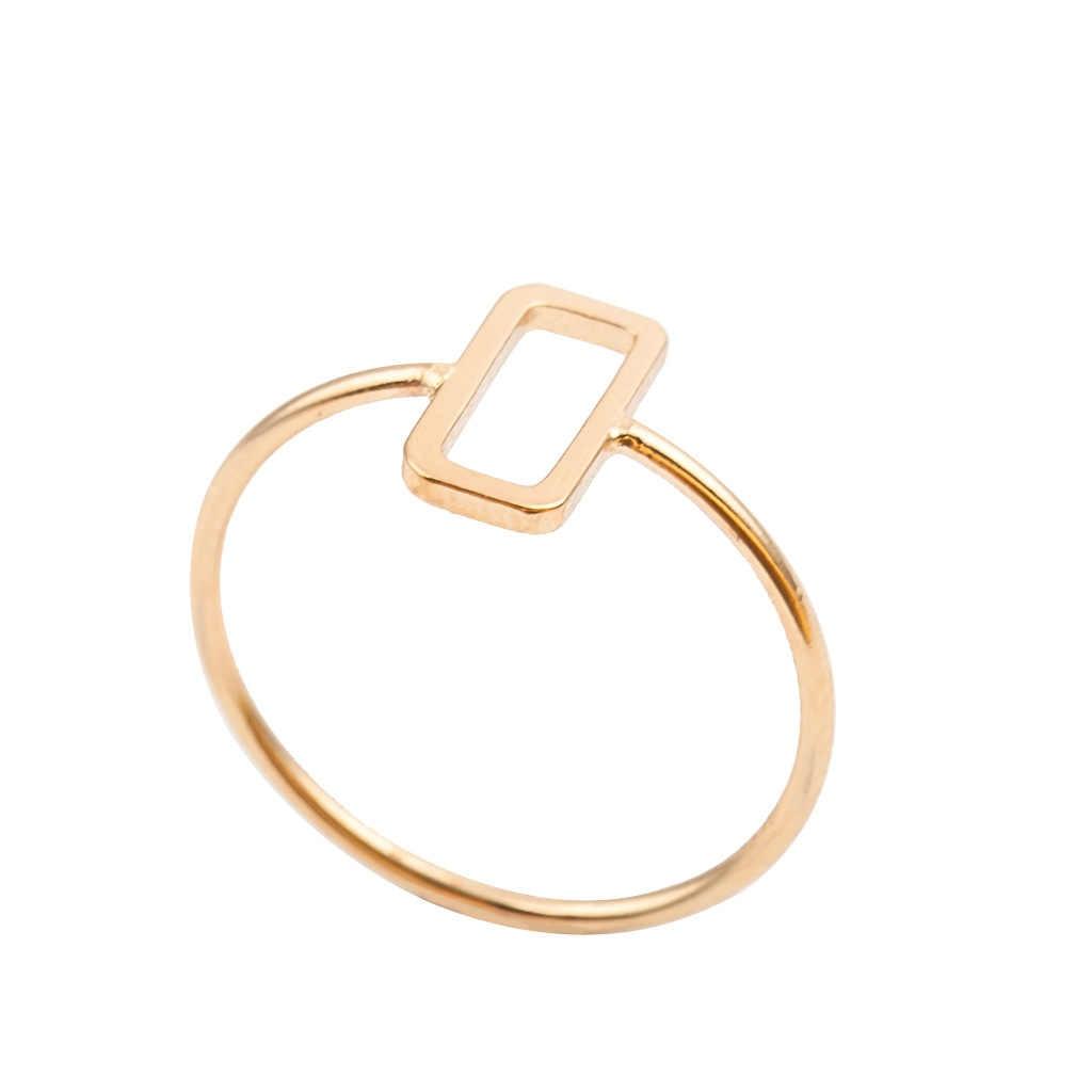 Серебряные кольца из сплава, очаровательные кольца из розового золота, обручальные кольца для женщин, минималистичные ювелирные изделия, Bague Femme Anillos Mujer