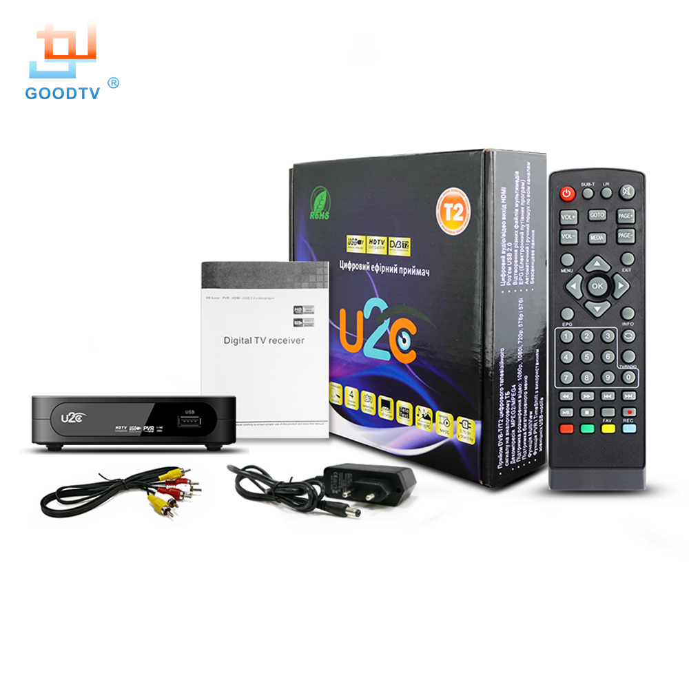 DVB-T2 Fernsehkasten HD Digital U2C Set-Topkasten mit USB- u. - Heim-Audio und Video