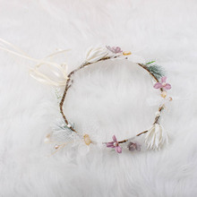 Женские головные уборы богемные Розы Свадебные цветы Свадебная повязка на голову венок цветочный летний корона тиара Корона аксессуары