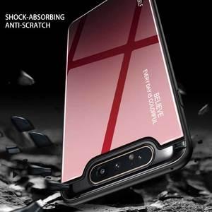 Image 4 - שיפוע זכוכית טלפון מקרה לסמסונג גלקסי A80 A90 A 80 90 מקרה לסמסון SM A805F 90A 80A כיסוי מעטפת בטיחות Fundas קאפה